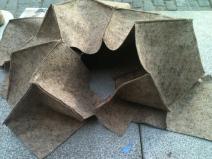 Uta Brauser sculptural scarf felt