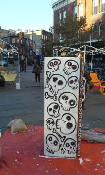 day of dead fridge