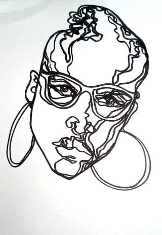 girl with hoop earrings