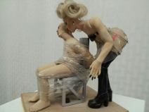 Bonded desire, clay sculpture
