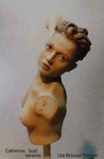 Catherine sculpt bust, clay original