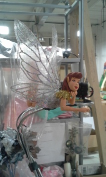 Building branches with foliage and fairy animation Saks Fifth Ave dec 2014