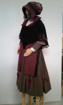 Mrs Cratchet, Dickens, Macy's Philadelphia. Restoration, body reconstruction, fall 2014
