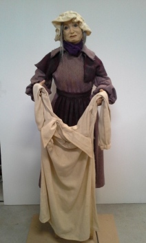 Beggar lady Mrs Cratchet set