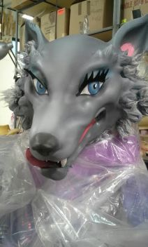Wolf face paint, Red Riding Hood, Saks Fifth Ave