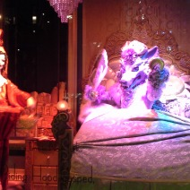 Wolf in set, Saks Fifth Ave window Dec 2014