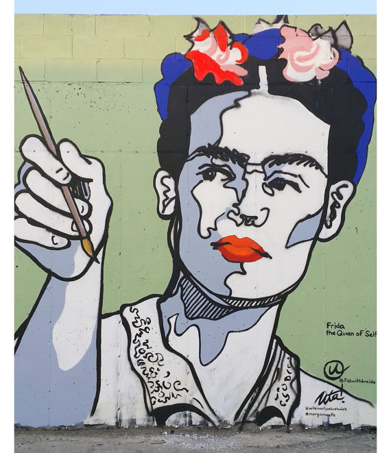 Frida Queen of Selfies Mural Print