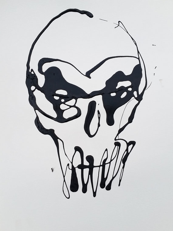 Drip Painting Skull