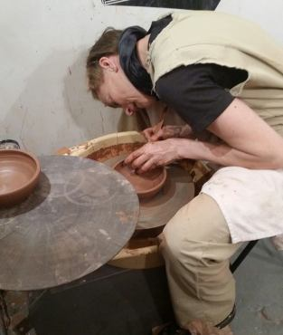 throwing clay on the Avenue with Amy Korb