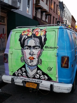 Frida portrait on van