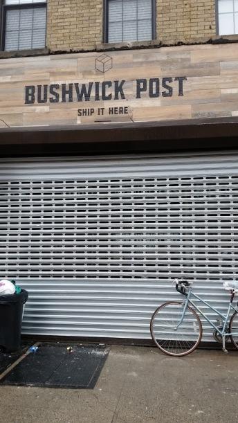 Bushwick Post stencil sign