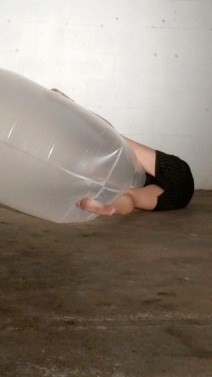 veronica with plastic